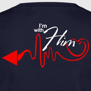 I'm with Him T-Shirt - Women's Long Sleeve Jersey T-Shirt