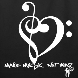 Make Music. Not War. Bags  - Eco-Friendly Cotton Tote