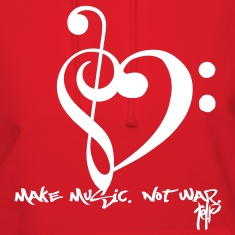 Make Music. Not War. Hoodies