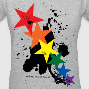 Rainbow Butterflies - Women's V-Neck T-Shirt