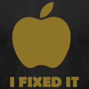 Apple i fixed it Parodie T-Shirts - Men's T-Shirt by American Apparel