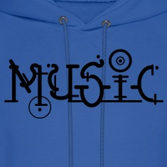 Music, Dance Electro Font ART motif.  Hoodies
