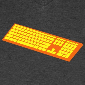 a simple keyboard T-Shirts - Men's V-Neck T-Shirt by Canvas