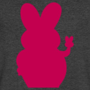 peace out kawaii bunny rabbit shape T-Shirts - Men's V-Neck T-Shirt by Canvas