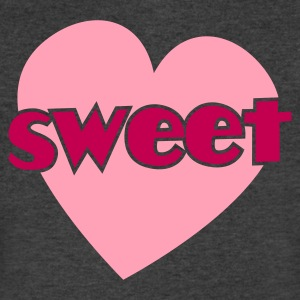 sweet heart cute! T-Shirts - Men's V-Neck T-Shirt by Canvas