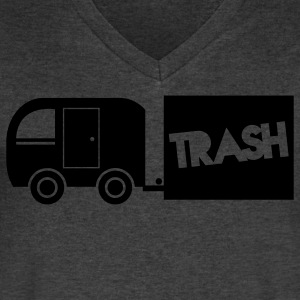 trailer trash towing cargo  T-Shirts - Men's V-Neck T-Shirt by Canvas