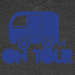 caravan camper on tour T-Shirts - Men's V-Neck T-Shirt by Canvas