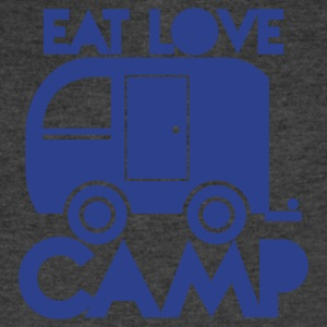 caravan camper EAT LOVE CAMP T-Shirts - Men's V-Neck T-Shirt by Canvas