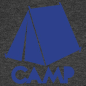 camp with tent T-Shirts - Men's V-Neck T-Shirt by Canvas