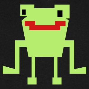 happy digital frog  T-Shirts - Men's V-Neck T-Shirt by Canvas