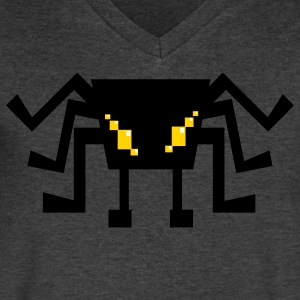 cute digital spider T-Shirts - Men's V-Neck T-Shirt by Canvas