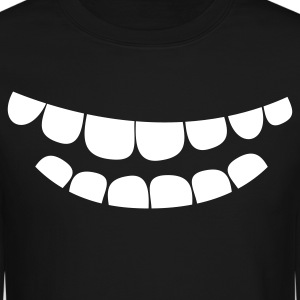 creepy smile teeth Long Sleeve Shirts - Crewneck Sweatshirt