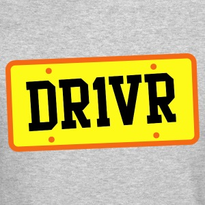 dr1ver DRIVER licence plate Long Sleeve Shirts - Crewneck Sweatshirt