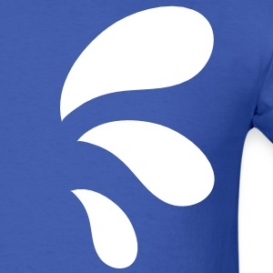 three curvy funky water droplets T-Shirts - Men's T-Shirt
