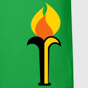 a simple torch with flames T-Shirts - Men's T-Shirt