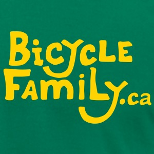 Gold Bicycle Family Cargo Bike Back - Men's T-Shirt by American Apparel