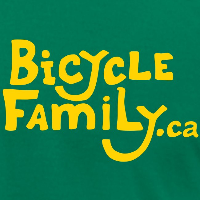 Gold Bicycle Family Cargo Bike Back