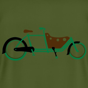 Bicycle Family Cargo Bike Army Arms - Men's T-Shirt by American Apparel