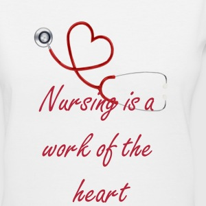 Nurse Shirt - Stethoscope heart  Women's T-Shirts - Women's V-Neck T-Shirt