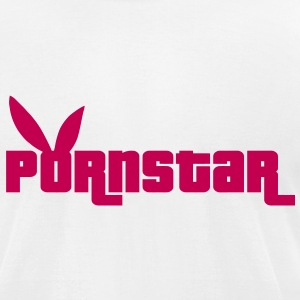 Pornstar with Bunny ears T-Shirts - Men's T-Shirt by American Apparel