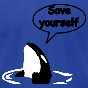 Save Yourself  / save the whales T-Shirts - Men's T-Shirt by American Apparel