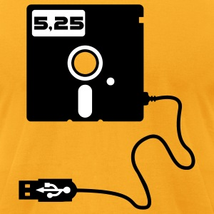 5.25-inch floppy disk USB Geek Nerd T-Shirts - Men's T-Shirt by American Apparel