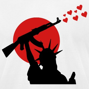 Statue of Liberty Statue of Liberty Ak-47 Weapon for Peace, War, War or Peace? T-Shirts - Men's T-Shirt by American Apparel