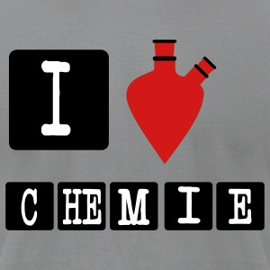 I love chemistry chemistry i heart T-Shirts - Men's T-Shirt by American Apparel