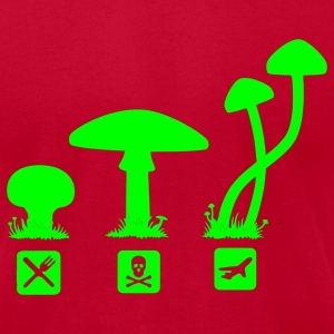 Mushrooms, psilocybin food killing flies T-Shirts - Men's T-Shirt by American Apparel