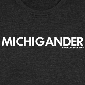 Michigander T-Shirts - Unisex Tri-Blend T-Shirt by American Apparel