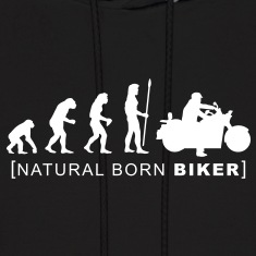natural born biker Hoodies
