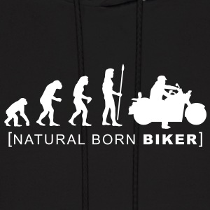 natural born biker Hoodies - Men's Hoodie