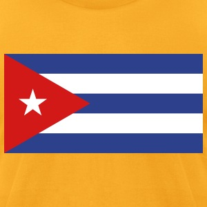 Flag Cuba (3c)++ T-Shirts - Men's T-Shirt by American Apparel