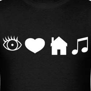 Eye Heart House Music (White Design) - Men's T-Shirt