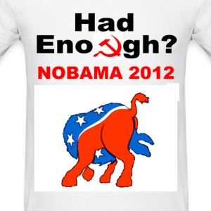 No Obama 2012 Head Up Ass Short Sleeve T-shirt - Men's T-Shirt