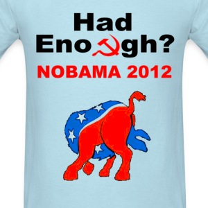 No Obama 2012 Head in Ass Short Sleeve T-Shirt - Men's T-Shirt
