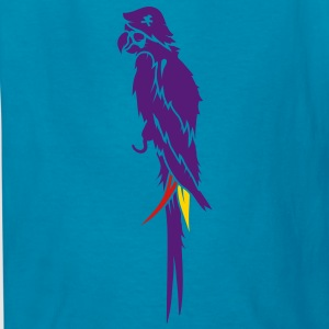 Parrot pirate with eye patch, pirate hat and hook  Kids' Shirts - Kids' T-Shirt