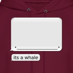 "Men's iPhone Whale Hoodie ""its a whale"""