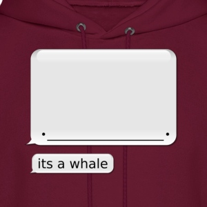 "Men's iPhone Whale Hoodie ""its a whale"" - Men's Hoodie"