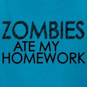 Zombies Ate My Homework Kids' Shirts - Kids' T-Shirt