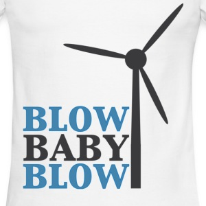 Blow Baby Blow Wind Turbine T-Shirts - Men's Ringer T-Shirt
