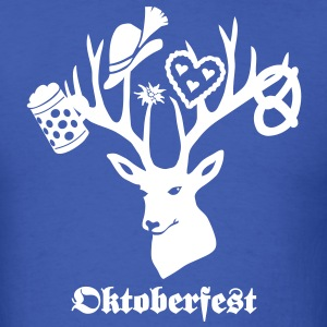 t-shirt oktoberfest bavaria munich germany stag party beer pretzel T-Shirts - Men's T-Shirt