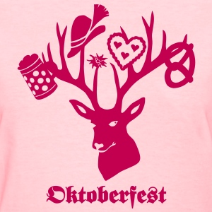 t-shirt oktoberfest bavaria munich germany stag party beer pretzel T-Shirts - Women's T-Shirt