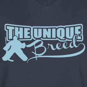 The Unique Breed (hockey goalies) T-Shirts - Men's V-Neck T-Shirt by Canvas