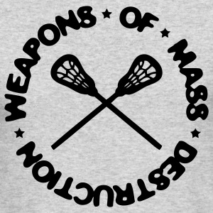 Weapons Of Mass Destruction (lacrosse) Long Sleeve Shirts - Men's Long Sleeve T-Shirt by Next Level