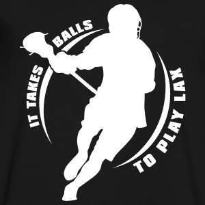 It Takes Balls To Play Lacrosse T-Shirts - Men's V-Neck T-Shirt by Canvas
