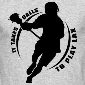 It Takes Balls To Play Lacrosse Long Sleeve Shirts - Men's Long Sleeve T-Shirt by Next Level