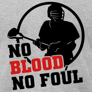 No Blood No Foul (lacrosse) T-Shirts - Men's T-Shirt by American Apparel