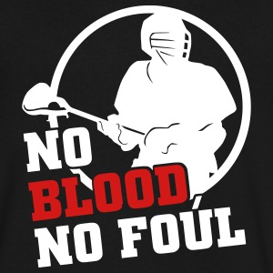 No Blood No Foul (lacrosse) T-Shirts - Men's V-Neck T-Shirt by Canvas