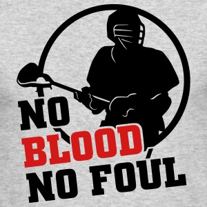 No Blood No Foul (lacrosse) Long Sleeve Shirts - Men's Long Sleeve T-Shirt by Next Level